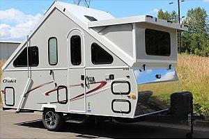 chalet pop up tent trailer