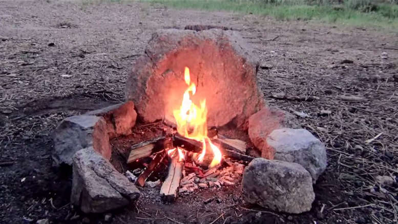 build a smokeless campfire