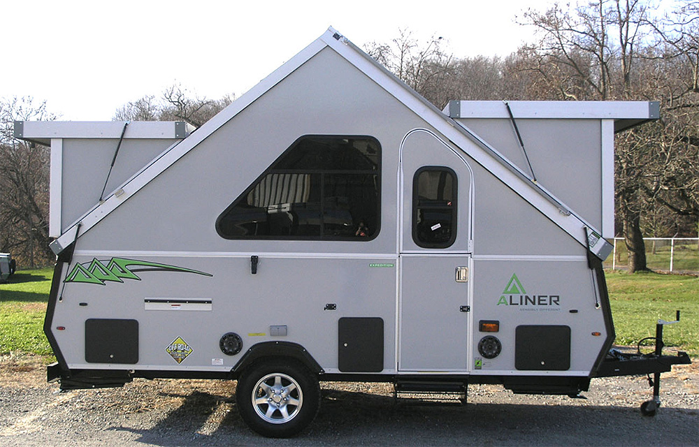 aliner expedition a frame camping trailer