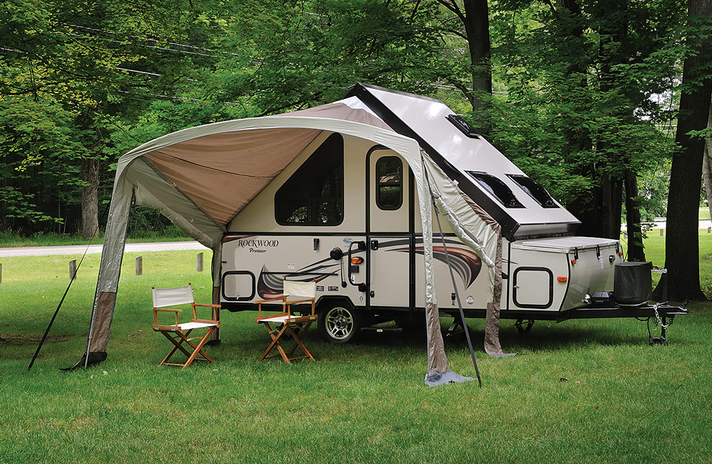 rockwood hard side a frame camper
