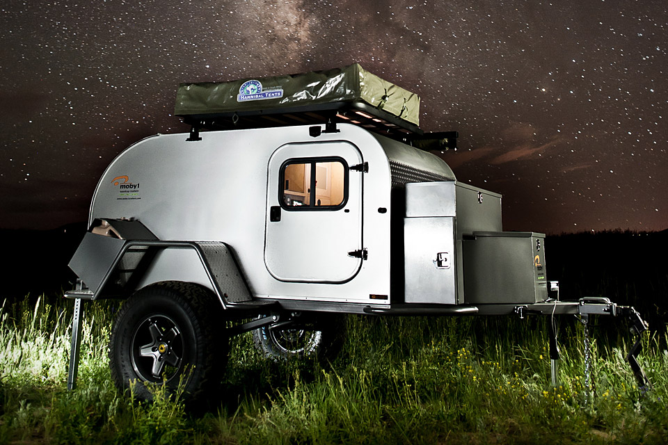 Pictured: Moby1 XTR Off Road Teardrop Trailer