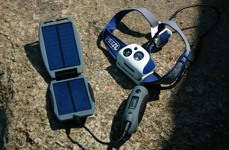 petzl headlamp with usb solar charger