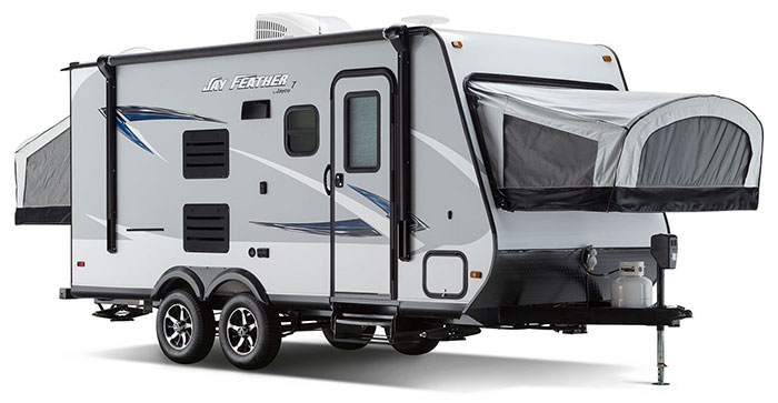jay feather 7 hybrid travel trailer
