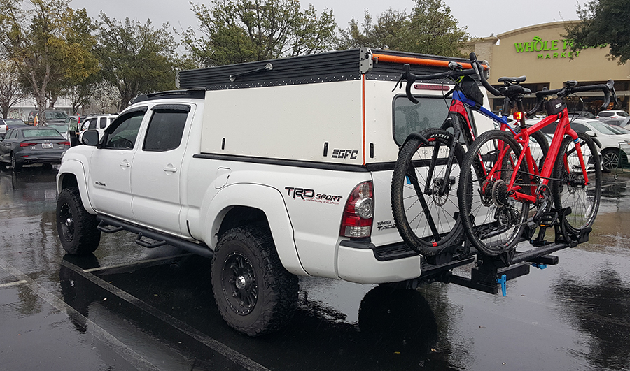 go fast camper on a toyota tacoma