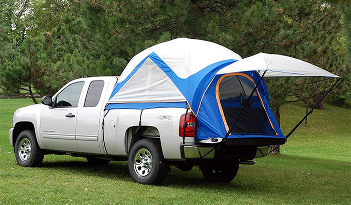 truck tent camper 5 pickup truck bed tents that are easy to set up and quality built savage. Black Bedroom Furniture Sets. Home Design Ideas