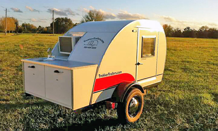 sleeper teardrop by trekker trailers