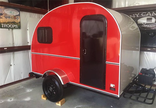 canned spam teardrop trailer