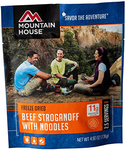 mountain house freeze dried beef stroganoff