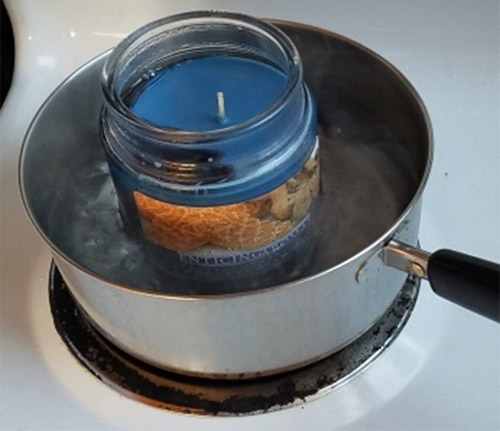 candle wax for making firestarter