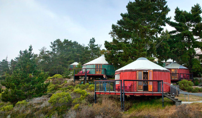 yurt glamping big sur