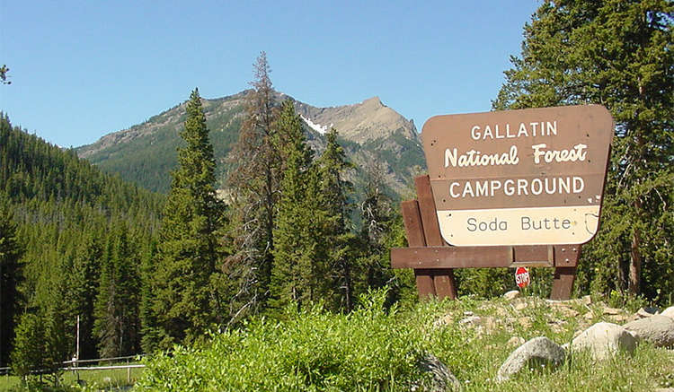 campgrounds outside yellowstone park
