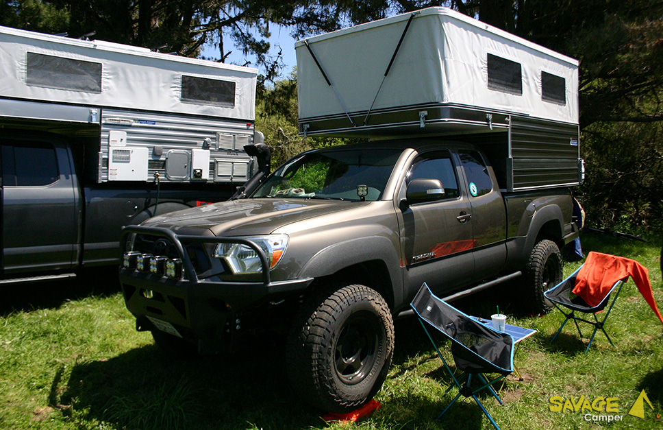 Custom Overland Toyota Tacoma with Four Wheel Camper