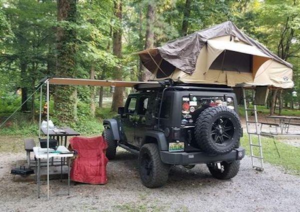 overland jku jeep camping gear
