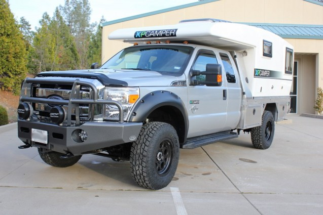 xpcamper v1e fitted to ford f350