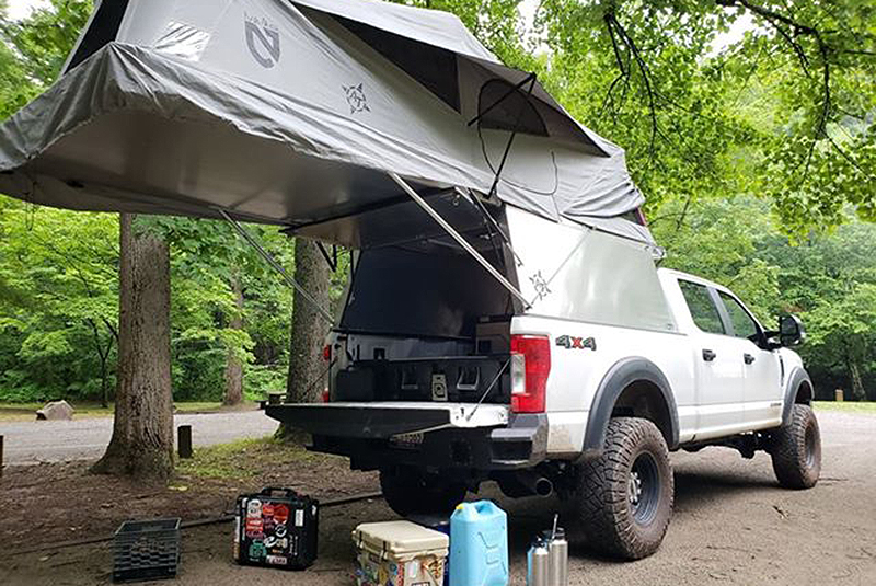 Toyota Tacoma Topper >> Overland Ford F250 STX with an AT Habitat Truck Camper