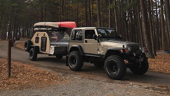 jeep rubicon tj with tc teardrop