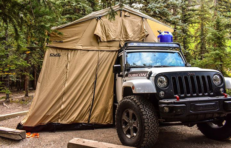 cvt tent on jeep rubicon recon