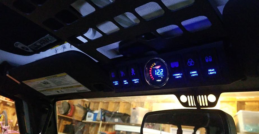 jeep rubicon rigid led lights control panel