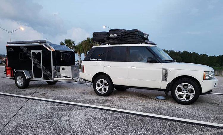 range rover towing weeroll camper