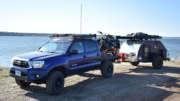 tc teardrop trailer behind a toyota tacoma