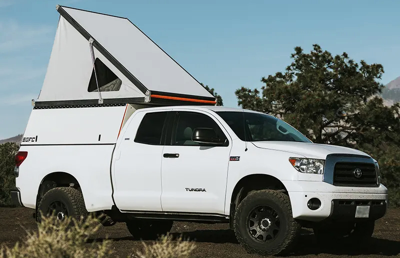 go fast camper on a toyota tundra
