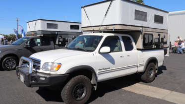 camper on a toyota tundra