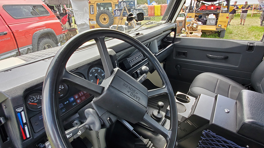 land rover defender 110 interior and dash