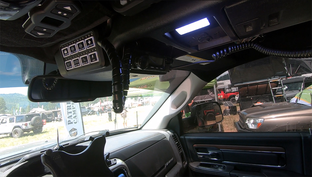 ram 2500 custom overhead console with spod controls