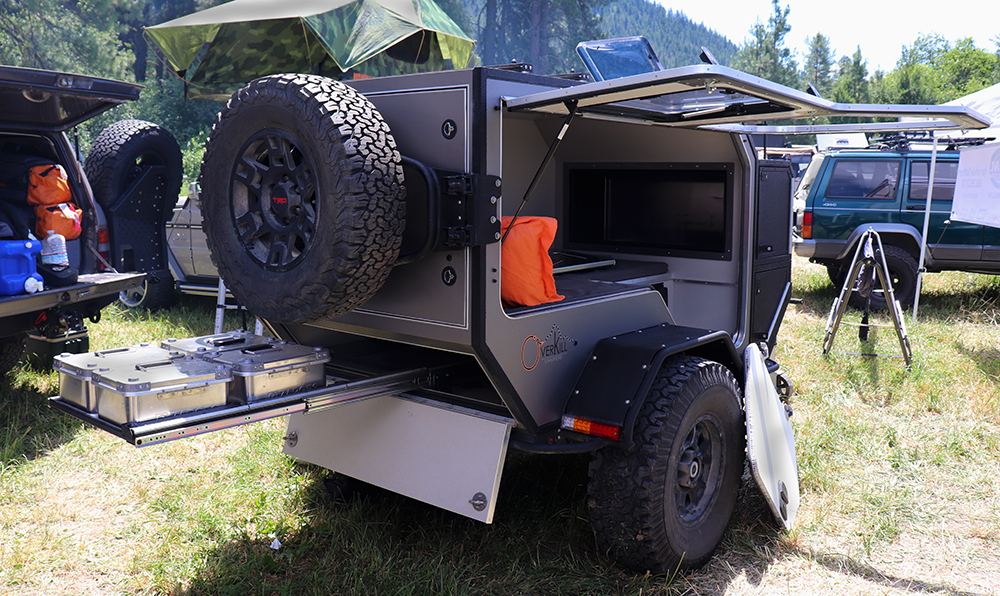 tk47 offroad camping trailer rear storage
