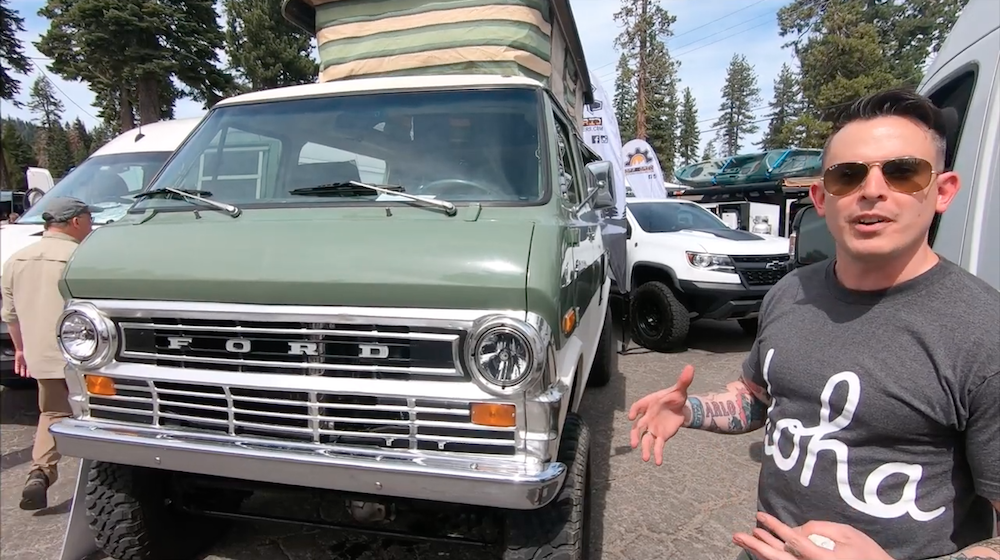 joe arlo describing backround of his 71 sportsmobile and the overland upgrades