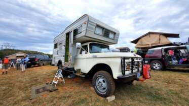 4x4 overland upgraded vintage ford f350 open road camper