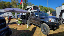 at overland habitat camper on toyota tacoma