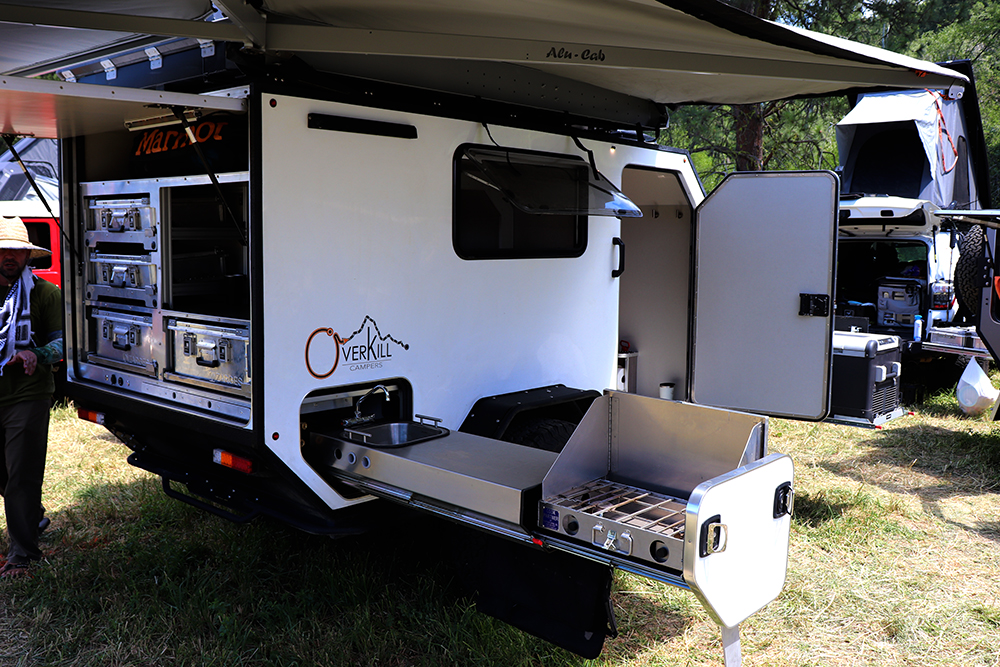 overkill campers zarges case system slide out kitchen