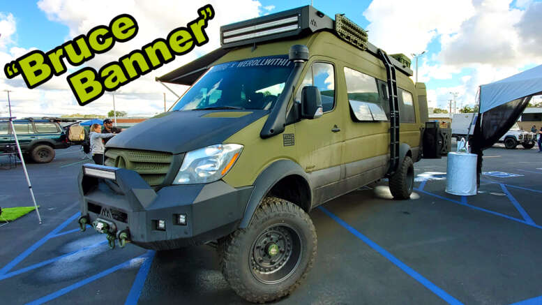 tourig built 4x4 mercedes sprinter camper van