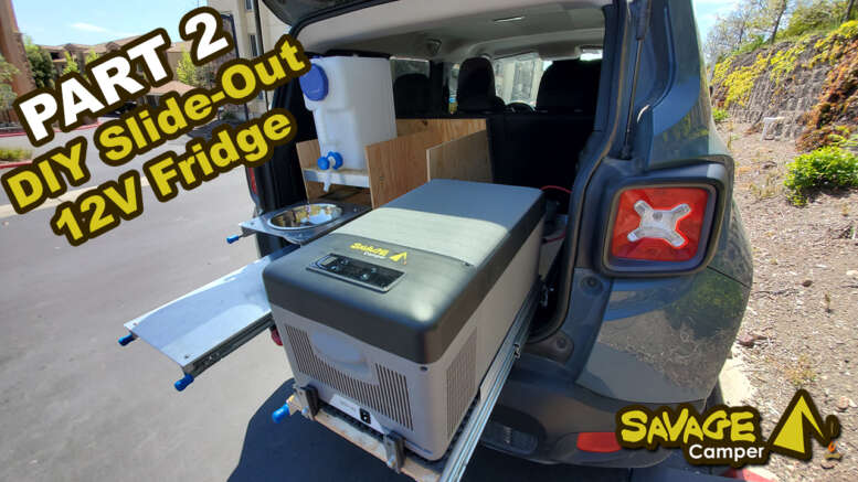 diy slide-out 12 volt fridge for an SUV